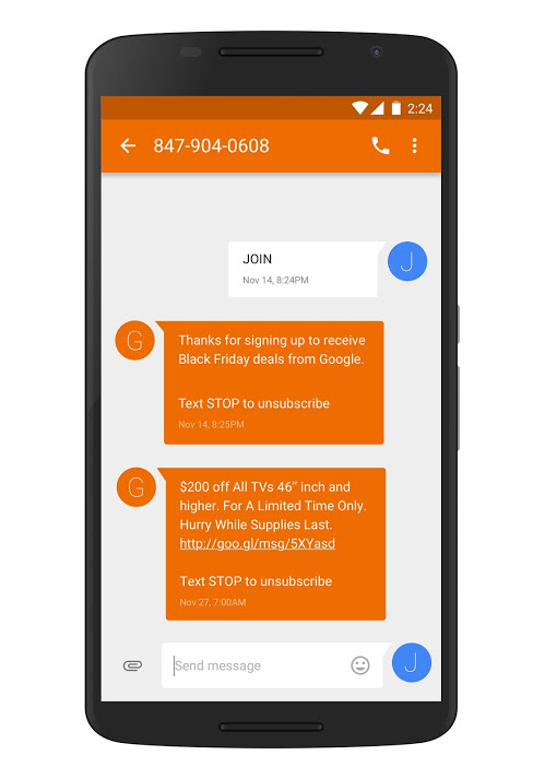 Google Is Promoting Holiday Shopping Deals Via Text Alerts | Thrive