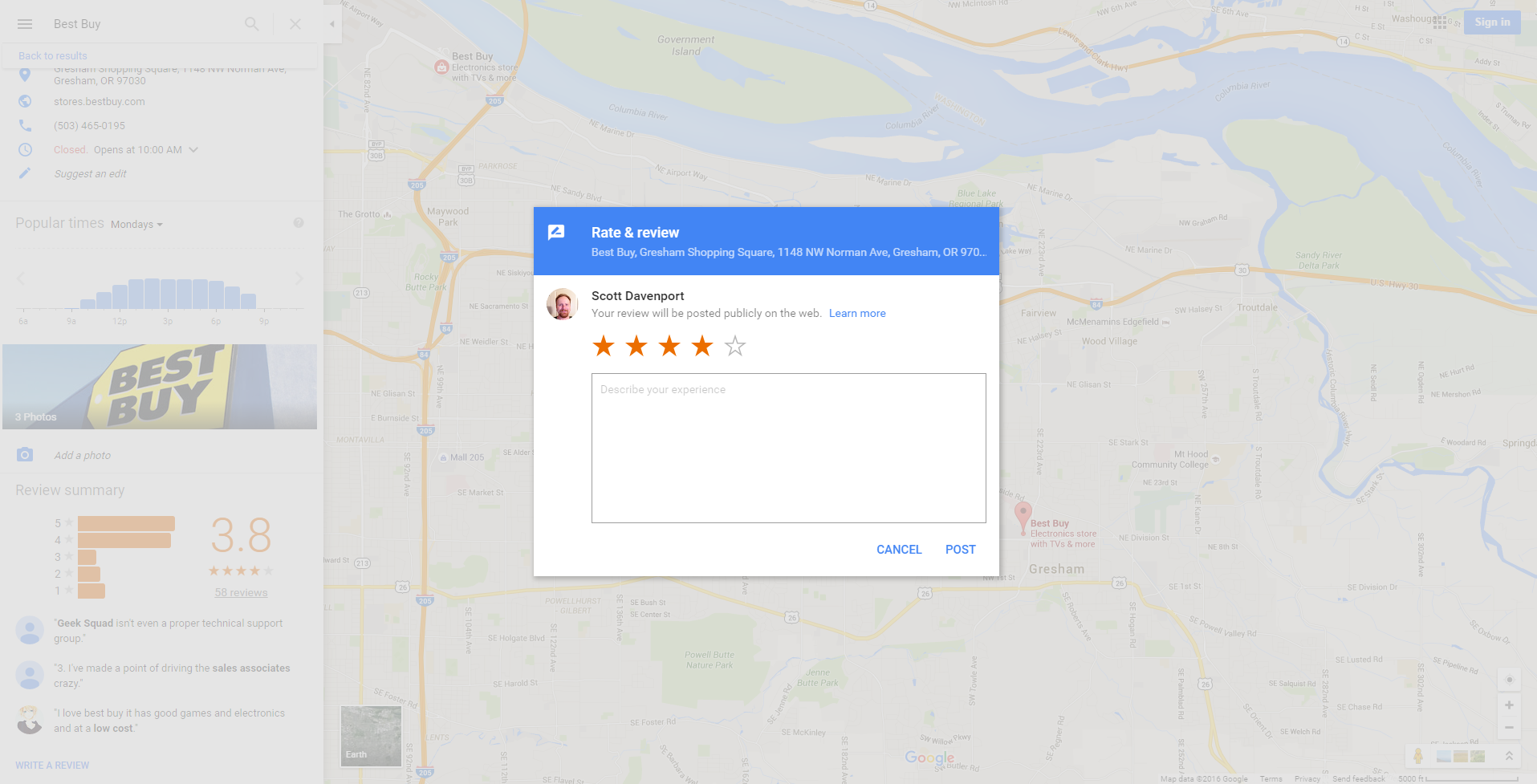 Google Maps Review requirements 2