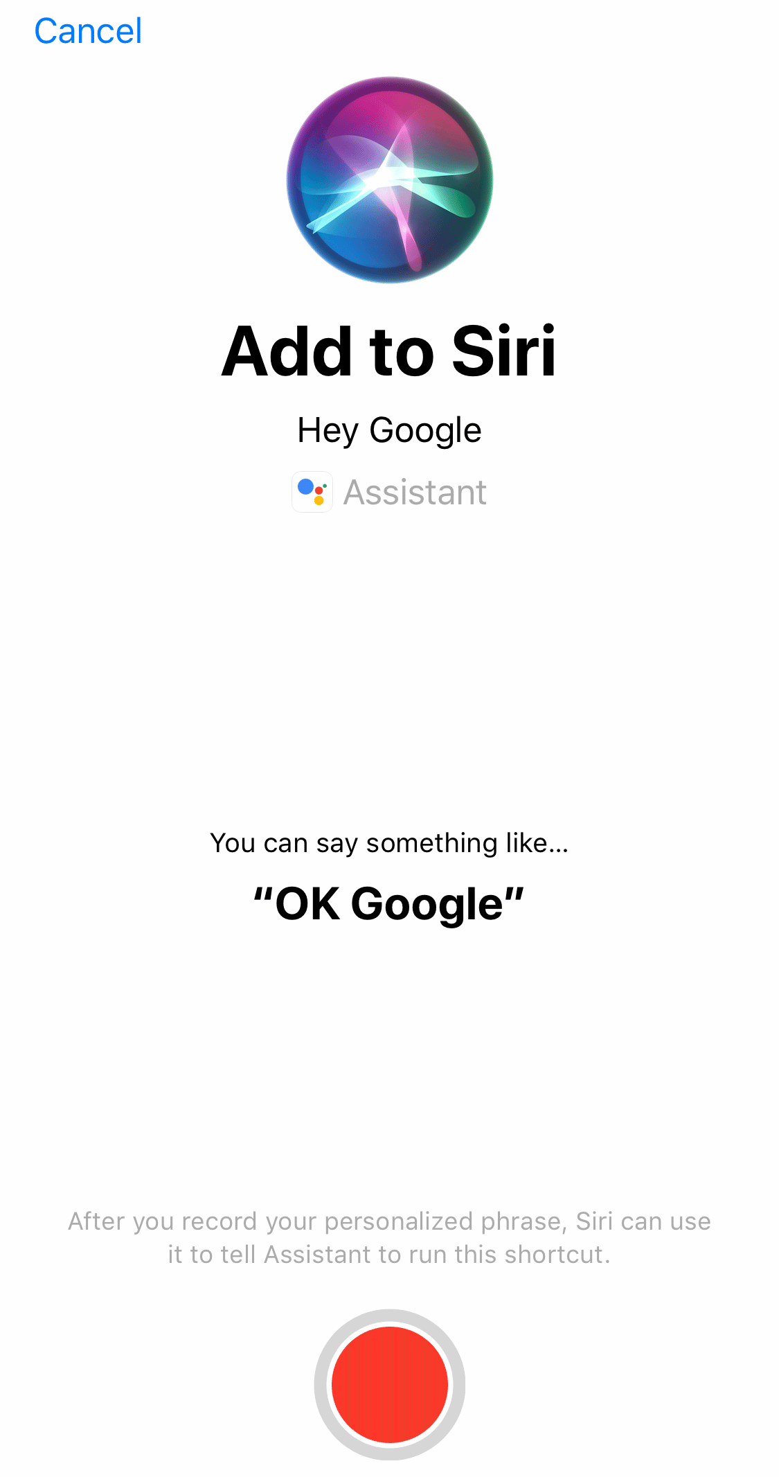 Google Assistant iOS App Adds Siri Shortcut, Making It Easier For